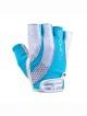 Zoe II dámské rukavice bílo tyrkysové