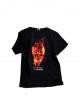 tričko skeleton pánské černé