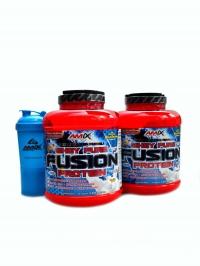 Whey-Pro Fusion protein 4.6kg + šejkr monster