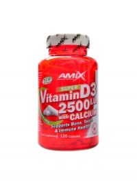 Super vitamin D3 2500 IU + calcium 120 kapslí
