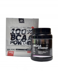 BCAA synergy + BS Blade BCAA test paket