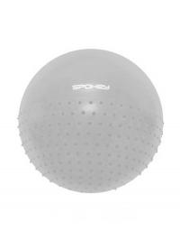 Half fit gymn.míč 2v1 65cm šedý vč pumpičky
