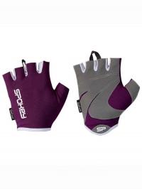 LADY FIT Dámské fitness rukavice, fialové