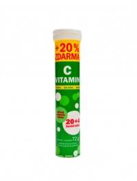 Vitamín C bez cukru 24 šumivých tablet