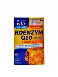 Maxivita Koenzym Q10 30 mg + vitamín C 30tbl