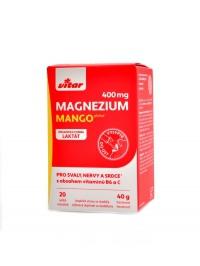 Magnézium 400 mg+vitamín B6+vitamin C 20ks