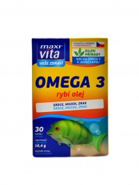 Maxivita Rybí olej Omega 30 kapslí blistr