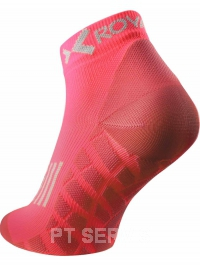 Sportovní ponožky low cut lososové červené