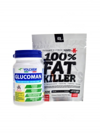Glucoman 120 cps + Fat Killer 120 cp