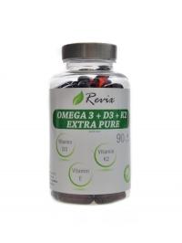 Omega 3+D3+K2+E 90 kapslí