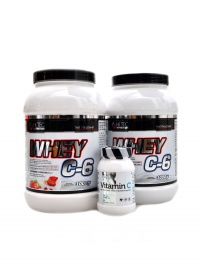 Whey C6 CFM whey 85% 2000 g + vitamín C 60cps