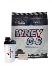 Whey C6 protein 2250g + šejkr + MDŽ kupon 8%