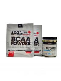 BS BLADE BCAA 2-1-1 2 x  500g + Glutamin 500g