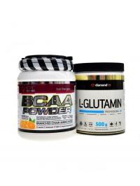 BCAA powder 500 g + DL Glutamin 500g