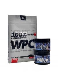 Black Devil 480 kapslí + 100% WPC 700g