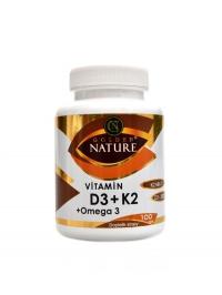 Vitamín D3 2000 IU + K2 MK7 + Omega 3 100 cps