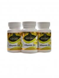 Vitamin D3 2000 I.U. SOFTGELS 100 kapslí 2+1