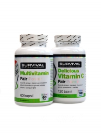 Multivitamin fair 60 + Vitamín C 500 mg 120