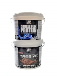Massive X gainer 4kg + Double Plex 2,5kg