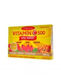 Vitamín C 500 trio natur 60 kapslí