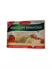 Hericium erinaceus s rakytníkovým olejem 60cp