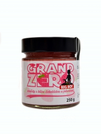 Grand zero s bílou čokoládou a jahodami 250 g