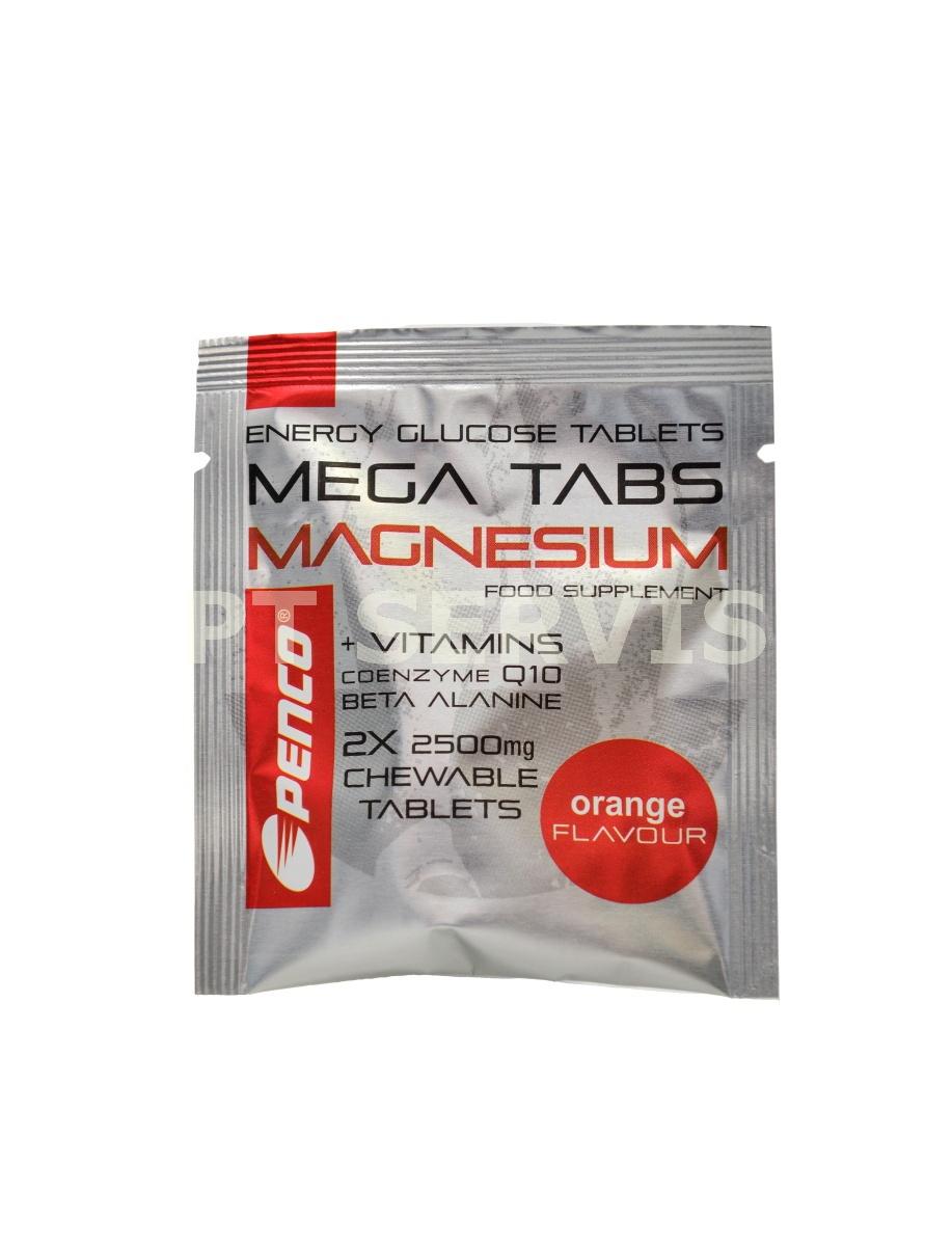 Mega tabs magnesium 2 x 2500mg pomeranč